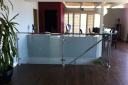 1/2″ glass rail brushed stainless steel
