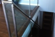 1/2″ glass rail with brushed stainless steel